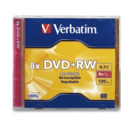 Verbatim DVD+RW JEWEL CASE 1PK 8X REWRITABLE