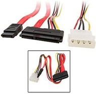 7+15 pins SATA Power + Data  Cable to Molex 4-Pin ...