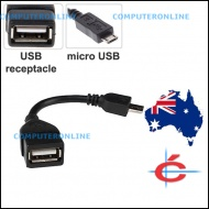 Converter: micro USB B male to USB A female OTG Cable Converter