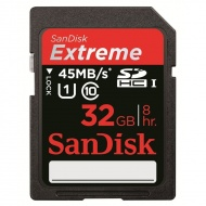 32GB Sandisk EXTREME HD VIDEO SDHC 45MB/S, [SDSDX-...