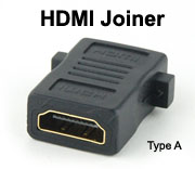 HDMI Female to HDMI Female Joiner Adapter, Type A receptacle