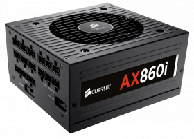 860W Corsair AX860i ATX Power Supply,80 PLUS Plati...