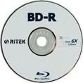 Ritek BLU-RAY BD-R DL 50GB 10 Pack, 1-4x Recordabl...