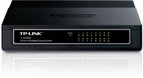 TP-Link 10/100M 16 Port Desktop Switch, Plastic Case, [TL-SF1016D]