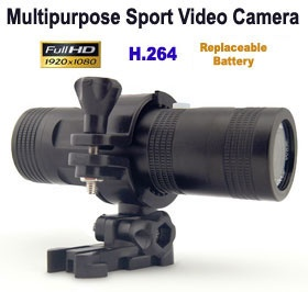 Multipurpose Action Sports 1080P Full HD Video Camera, [AT-72N], Splash Proof, Replaceable Battery