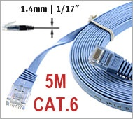 CAT.6 Flat Patch Cable 5m straight