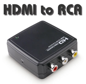 Converter: HDMI Input to RCA AV Output (CVBS, Audio + Video), [HD2R01]