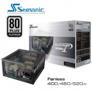 460W Seasonic 80Plus Platinum Series Fanless Power...