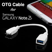 USB 3.0 OTG Cable for Samsung Galaxy Note 3, USB 3.0 micro B Male to USB 3.0 A Receptacle