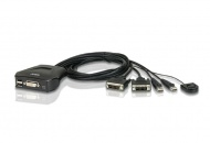 Aten Petite 2 Port USB DVI-D KVM Switch with Remot...