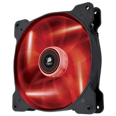 "Corsair ""Air Series"" Air Flow 140 Quiet Edition Case Fan - Superior Cooling Performance and LED Illumination, Red"
