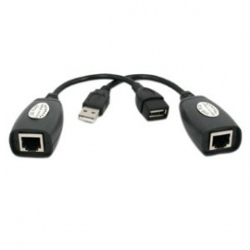Converter: USB Extension adaptor by RJ45 (Network) cable,  up to 45m