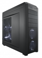 Corsair Carbide 500R Black Mid-Tower Case, No PSU, 1x 200mm White LED Side Panel Fan, 2x 120mm Front White LED Fans, 1x 120mm Rear Fan, ATX/mATX, [CC-9011012-WW]