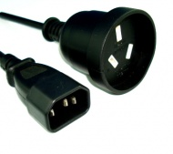 Power Cable: 30CM UPS IEC Male(PC) To AUSTRALIAN 3...