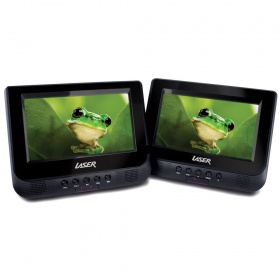 LASER DVD Player Dual In Car 7""
