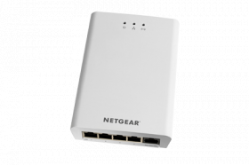 Netgear WN370, 5PT 11N WIFI WALL MOUNT ACCESS POIN...