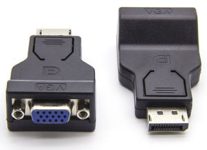 Converter: DisplayPort (Male) to VGA (Female) Cable Converter - 20cm, Black colour
