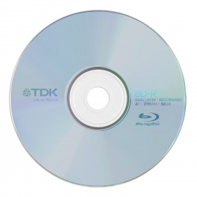 50GB TDK 4x Speed BD-R Blu-ray Double Layer Record...