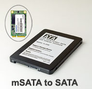 "2.5"" SATA III Enclosure for 50mm mSATA SSD, [..."