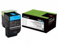 Lexmark 708C Cyan  Return Toner Cartridge, 1K,  CS...