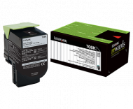 Lexmark 708K Black  Return Toner Cartridge, 1K,  C...