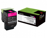 Lexmark 708M MAGENTA RETURN TONER CARTRIDGE, 1K, C...