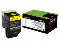 Lexmark 708Y YELLOW RETURN TONER CARTRIDGE, 1K, CS...