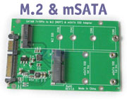 mSATA / M.2 (NGFF) 2-in-1 PCI-e SSD to Standard SA...