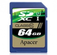 64GB Apacer SDXC UHS-I Class10 Retail for DSLR and...