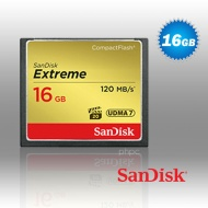 16GB SanDisk Extreme CompactFlash Card 120MB/s - S...