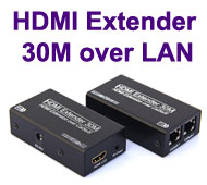 HDMI Extender over Cat-5e / Cat-6 LAN Cable, [T-502], Up to 30 meters for Full HD 1080p