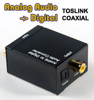 Analogue Audio RCA Input to Digital Output Convert...