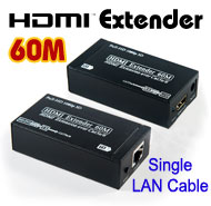 HDMI Extender Extension over Single Cat-5e / Cat-6 LAN Cable, [T-505], Up to 60 meters for Full HD 1080p