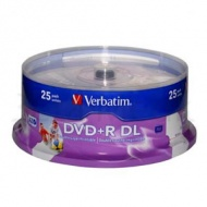 Verbatim Double Layer DVD+R in White Top Printable 25pcs