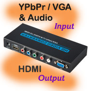 YPbPr / VGA + Audio Input to HDMI Output Converter...