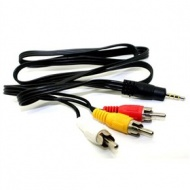 Camcorder AV Cable 3.5mm Male - RCA 3x Male 0.9m