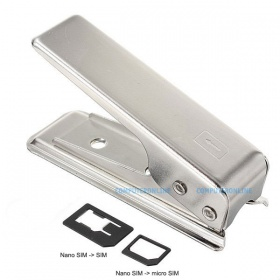 SIM to Nano SIM Cutter with SIM / micro SIM adapters, for iPhone 5, iPad mini