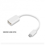 micro USB to USB OTG Cable - White, about 15cm