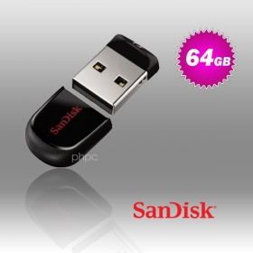 64GB SanDisk CZ33 Cruzer Fit USB Flash Drive