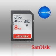 8GB SanDisk Ultra SDHC UHS-I Class 10 40MB/s (SDSD...