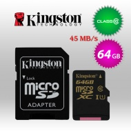 64GB Kingston Micro SDXC Class 10 UHS-I with Stand...