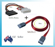 SATA 2 Data Cable and 4 Pin male Molex to SATA Pow...
