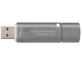 8GB Kingston DataTraveler Locker+ G3 Hardware Encr...