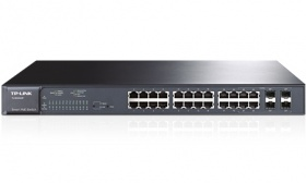 TP-LINK TL-SG2424P 24-Port Gigabit Smart PoE Switch with 4 Combo SFP Slots, 180W