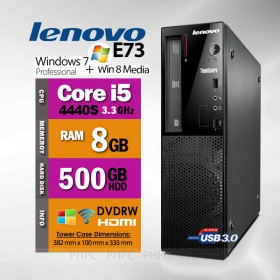 Lenovo ThinkCentre E73 Desktop PC with i5 4440S/8G...