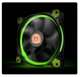 120mm ThermalTake Riing 12 Green LED 1500RPM Fan