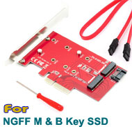 M.2 NGFF B & M Key SSD to PCI-E 4x Card + SATA...