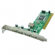 USB 2.0 PCI Card 4+1 Ports