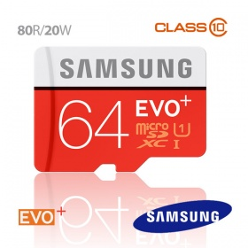 64GB Samsung EVO PLUS Micro SD Memory Card 80R/20W...