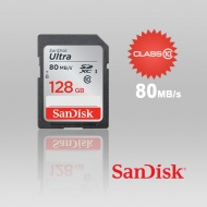 128GB SANDISK SDHC Class 10 Ultra  80MB/S